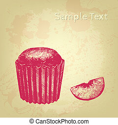 Vector cake background