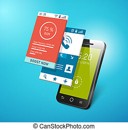 application on smartphone screen