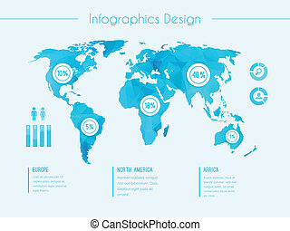 World map infographic template - World map infographic...