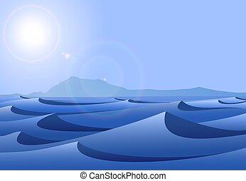 blå, Ørken