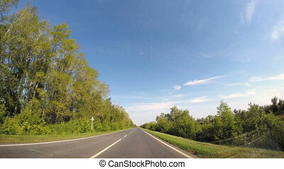 Road to village - Time Lapse road to village. Shot from auto...