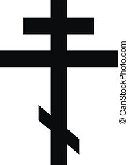 Religious orthodox cross on white background. Vector...