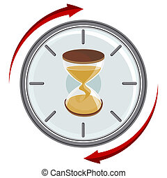 Hourglass Timer - An image of hourglass clock timer.