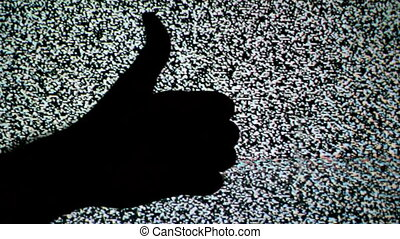 Thumb down and thumb up for like and dislike or Approval and...