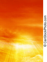 Sunny sky with clouds, background