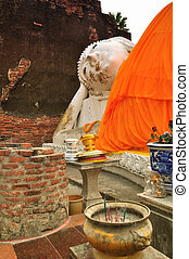 Sleeping Buddha in Wat Yai Chaimongkhon, Ayutthaya