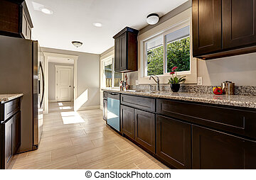 Modern kitchen inteior in new house - Modern kitchen...