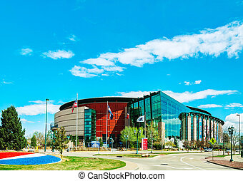 Pepsi Center in Denver, Colorado - DENVER - April 30, 2014:...