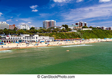 Bournemouth Beach Dorset - Overlooking Bournemouth Beach...