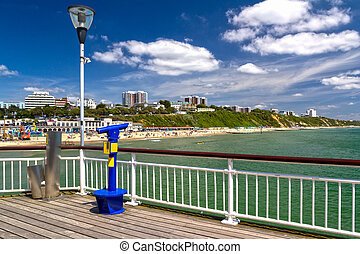 Bournemouth Beach Dorset - On Bournemouth Pier Dorset...