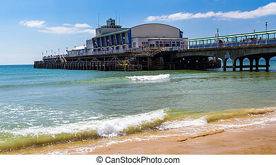 Bournemouth Beach Dorset - Bournemouth Beach and Pier Dorset...