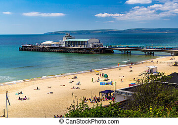 Bournemouth Beach Dorset - Overlooking Bournemouth Beach and...