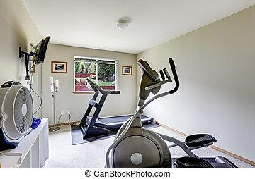 Home small gym room interior