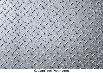 Aluminium dark list with rhombus shapes background