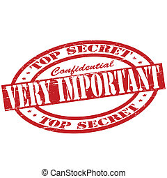 Very important - Stamp with text very important inside,...