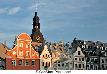 Cathedral. - View of Domsky cathedral in Riga, Latvia.
