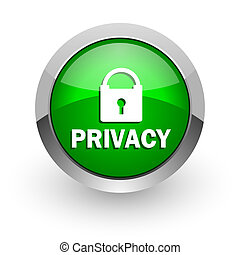 privacy green glossy web icon - green glossy web icon