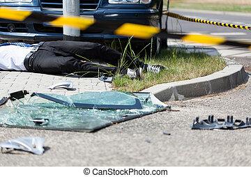 Car crash on the street - Serious car crash on the street,...