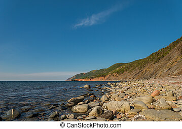 Coastal Scene on the Cabot Trail (Cape Breton, Nova Scotia,...