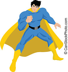 Superhero - Illustration of a male figure in superhero...