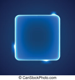 Abstract blue square placeholder - Abstract transparent blue...
