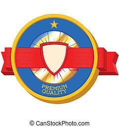 Vintage Premium Quality 3D label