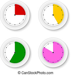 Set clocks isolates with bright sectors