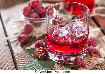 Raspberry Liqueur - Homemade Raspberry Liqueur with fresh...