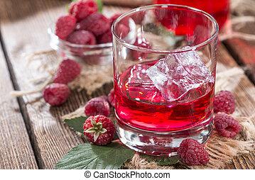 Raspberry Liqueur - Homemade Raspberry Liqueur with fresh...