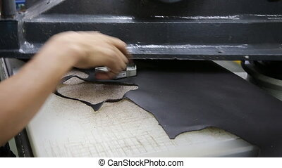 Cutting leather - cutting leather to making shoe component