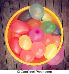 water balloons - bowl of water balloons