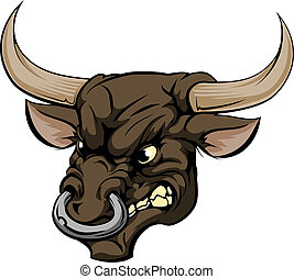 Bull mascot character - An illustration of a fierce bull...