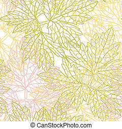 Seamless vector pattern with stylized autumn leaves