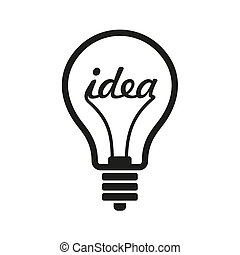 Creative Idea in Bulb Shape as Inspiration Concept Icon...