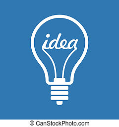 Creative Idea in Bulb Shape as Inspiration Concept Icon....