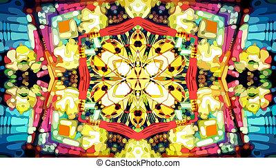 Kaleidoscope Backround - Kaleidoscope mosaic background,...