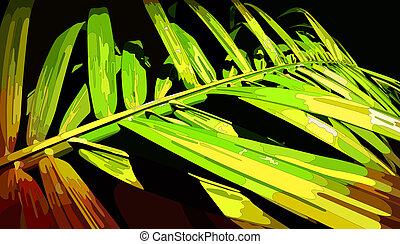 Palm Leaf, vector eps8 illustration