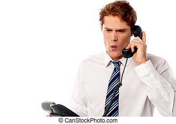 Frustrated business executive shouting - Angry manager...