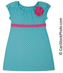 Little dress for child girls. Isolated on white - Little...
