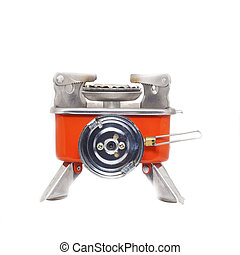 gas burner - Camping gas burner on a white background