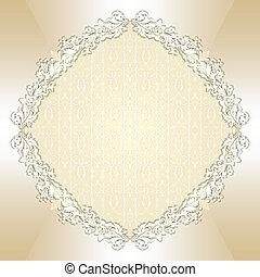 Round floral background