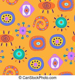 Seamless pattern with various elements
