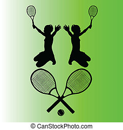 tennis symbol vector illustration