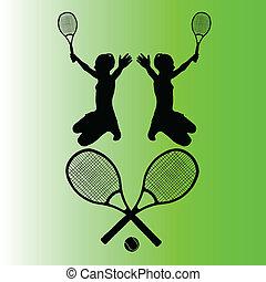 tennis symbol vector illustration
