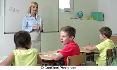 New Classmate - Teacher introducing new student to the class
