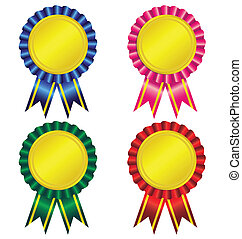Set of award ribbon vector
