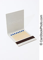 Matches - Coloured matches on white background
