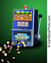 Slot machine - Winning combination on a slot machine Digital...