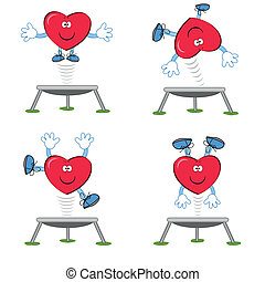 Heart- sportsman  - Heart on the trampoline.