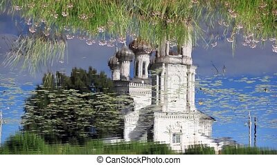 Church Reflection in water - Vologda Russian north...